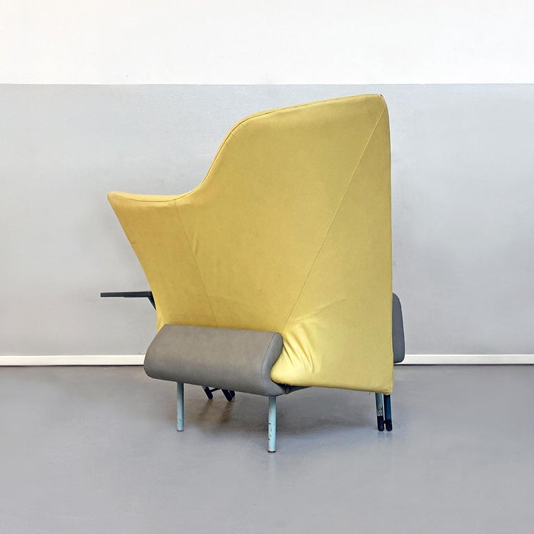 Metal Italian Modern Chaise Lounge Mod. Torso by Paolo Deganello for Cassina, 1980s For Sale