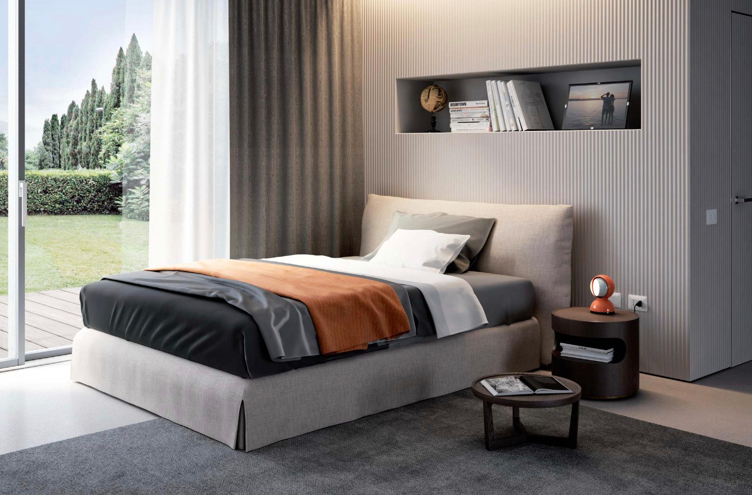 Italian Modern Clouds Bed, Italy, New, Fabric, Italian Bedroom