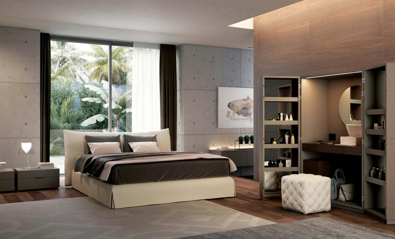 Italian Modern Clouds Bed, Italy, New, Fabric, Italian Bedroom For Sale 2