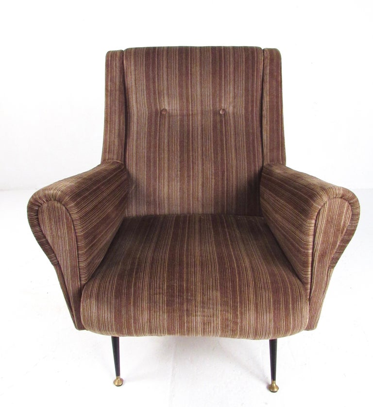 Upholstery Italian Modern Club Chairs after Gigi Radice, circa 1950s, Italy For Sale