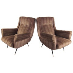 Italian Modern Club Chairs after Gigi Radice, circa 1950s, Italy