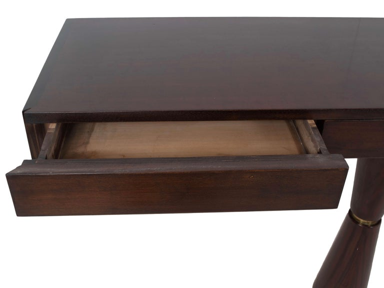 Italian Modern Console in Hard Wood and Brass Attr. to Angelo Mangiarotti, 1960s For Sale 4