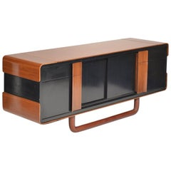 Italian Modern Credenza with Leather Base