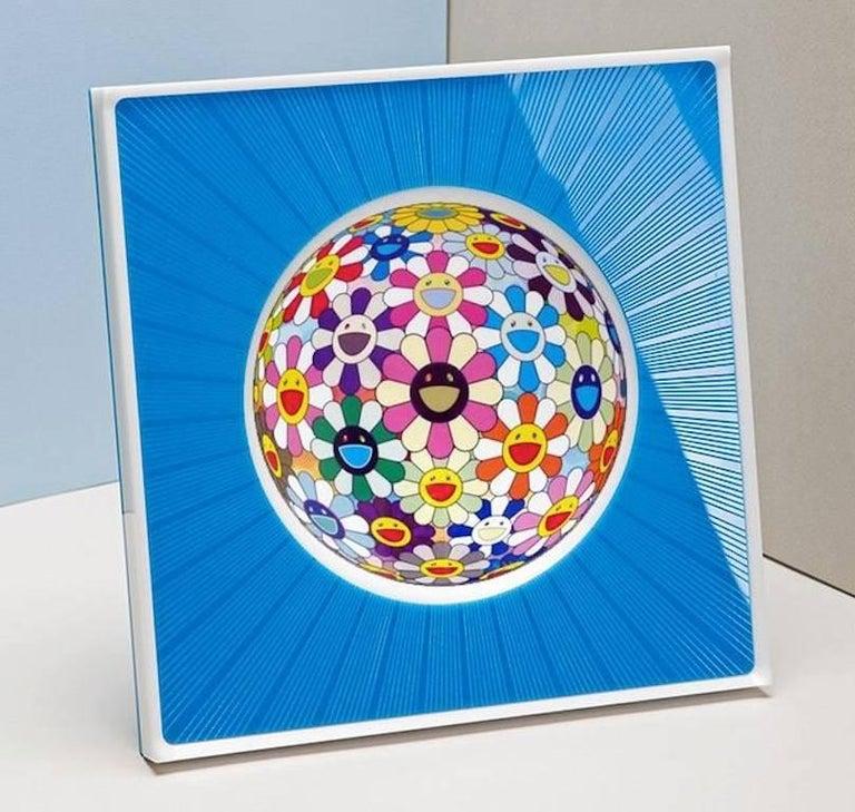 Italian Modern Design Picture Frame in Blue Plexiglass, Sharing Blue For Sale 5