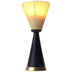Italian Modern Diablo Table Lamp with Brass Accents, 1960s