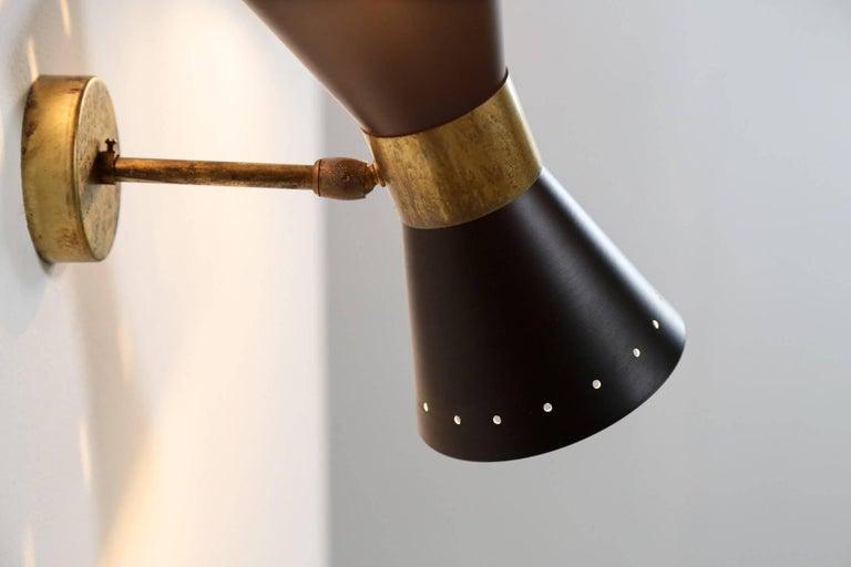 Italian Modern Diabolo Sconce Stilnovo Style, Wall Light For Sale 3