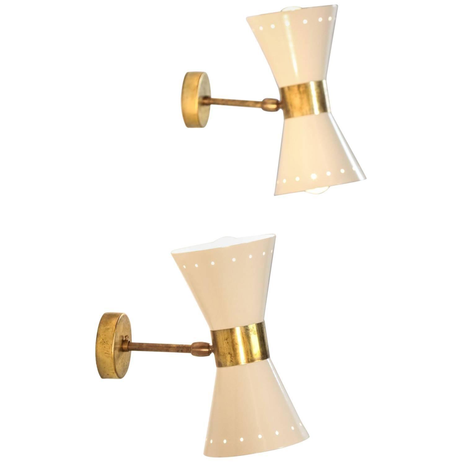 Italian Modern Diabolo Sconces Stilnovo Style, Wall Light