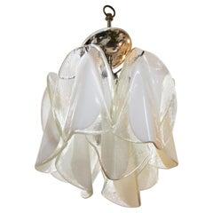 Italian Modern Diminutive Murano Glass Handkerchief Pendant