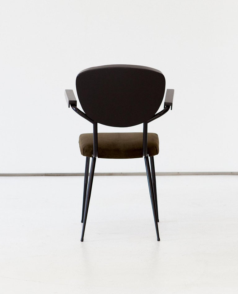 Italian Modern Dining Armchairs, 1950s In Good Condition For Sale In Rome, IT