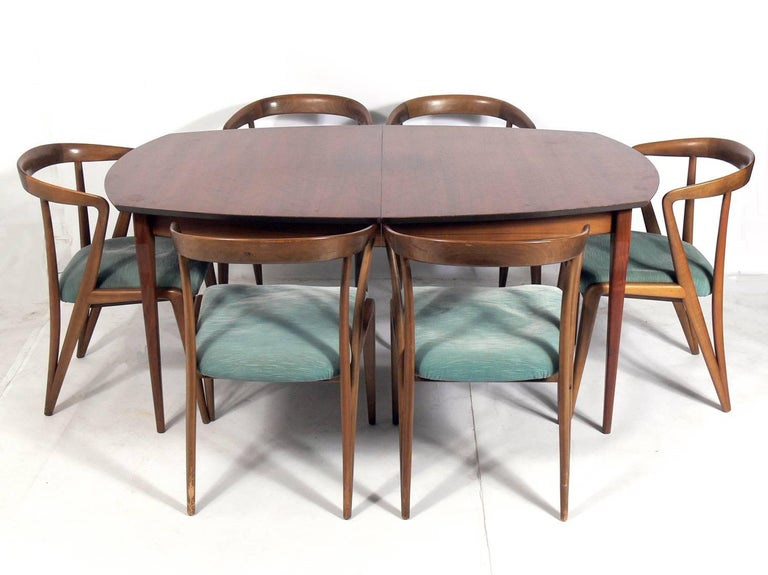 Italian Modern Dining Table by Bertha Schaefer In Good Condition For Sale In Atlanta, GA
