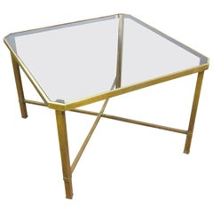 Italian Modern Glass Top Coffee Table