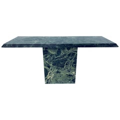 Italian Modern Green Marble Console Table