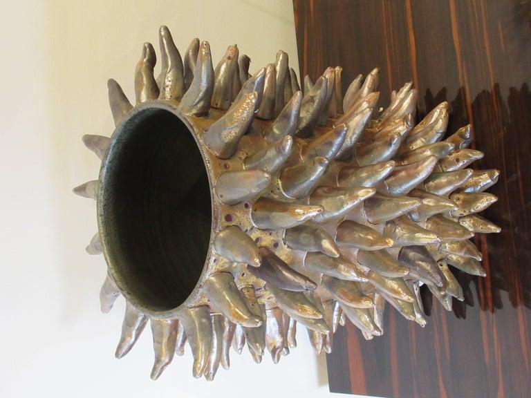 Italian Modern Grey Glazed Monumental Vessel, Duca di Camastra For Sale 8