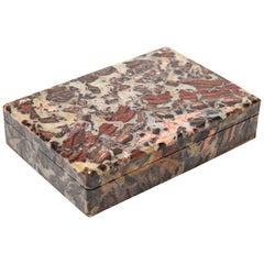 Italian Modern Hardstone Trinket Box