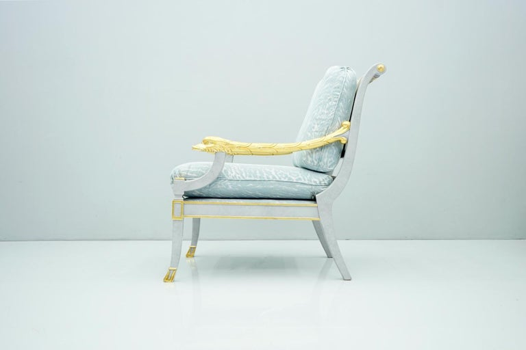 Italian Modern Light Blue Lounge Chair StyleArte, 1990s For Sale 7
