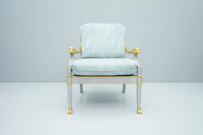 Italian Modern Light Blue Lounge Chair StyleArte, 1990s For Sale 3