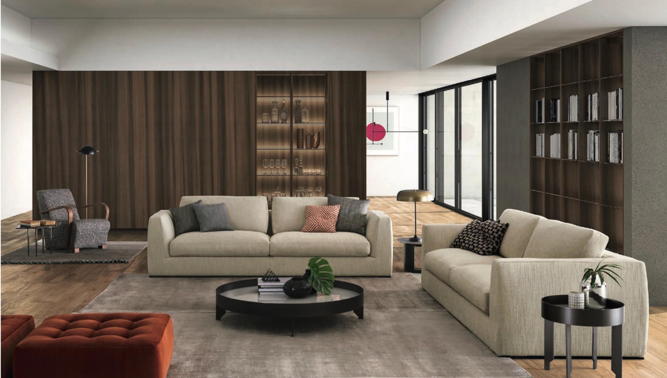 Italian Modern Lond Sofa, Made in Italy, Contemporary Design
