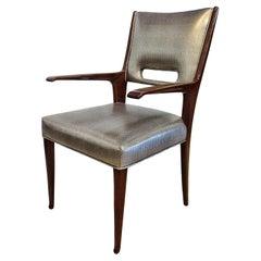 Italian Modern Mahogany Arm/ Desk Chair, Guglielmo Ulrich