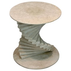 Italian Modern Marble Spiral Side Table