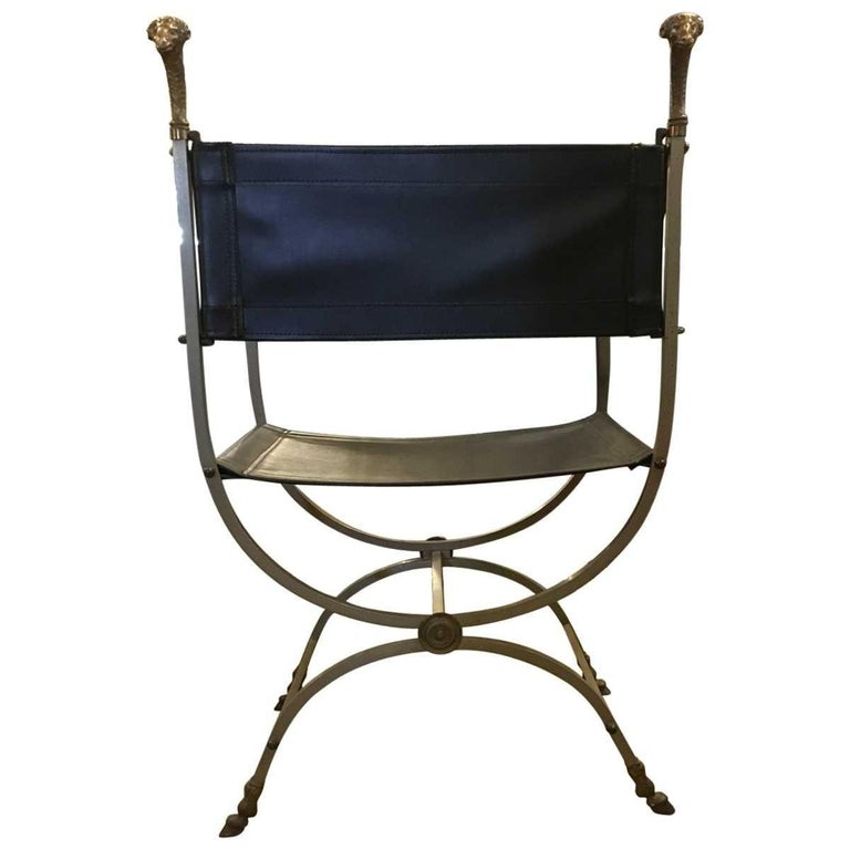Other Italian Modern Midcentury Ram's Head Accent Chair For Sale