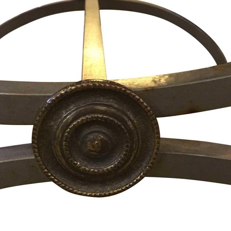 Brass Italian Modern Midcentury Ram's Head Accent Chair For Sale