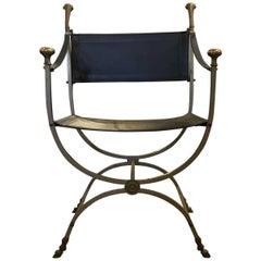Italian Modern Midcentury Ram's Head Accent Chair
