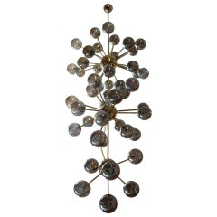 Italian Modern Midcentury Very Long Sputnik Chandelier, Staircase Chandelier