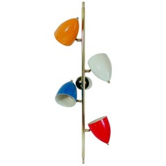 Italian Modern Multi-Color Four-Light Wall Light Sconce in Stilnovo Manner