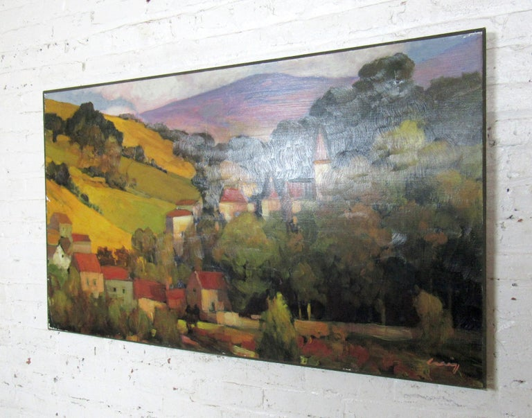 Colorful vintage modern Italian painting signed by artist.  Please confirm item location with dealer (NJ or NY).