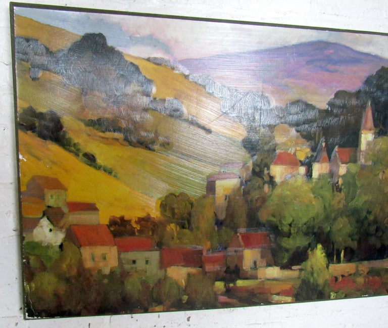 Italian Modern Oil Painting Signed by Artist In Good Condition For Sale In Brooklyn, NY