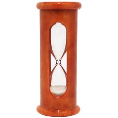 Italian Modern Alabaster Marble Hourglass Timer
