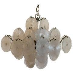 Italian Modern Opalescent Glass Chandelier, Carlo Nason
