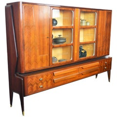 Italian Modern Rosewood Bookcase by Vittorio Dassi