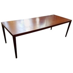 Italian Modern Rosewood Coffee Table
