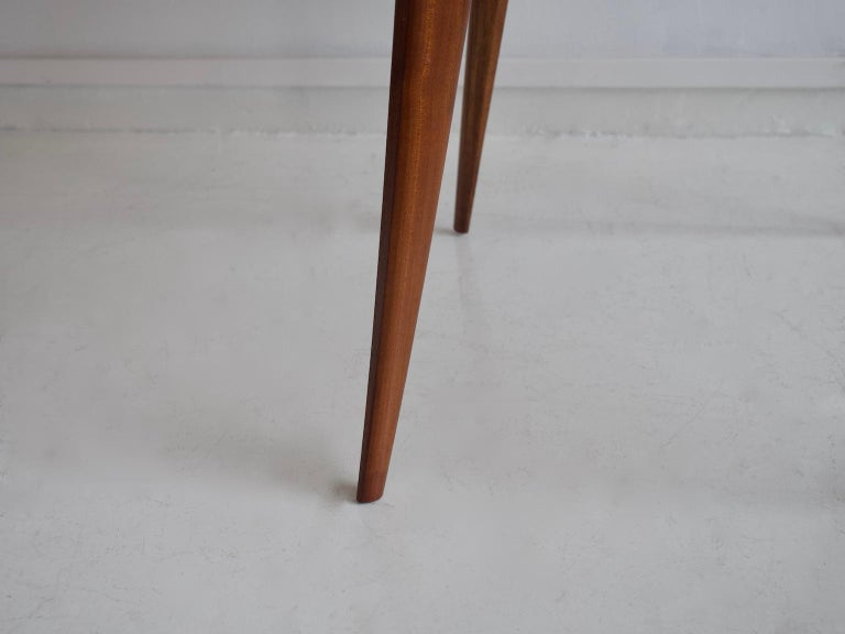 20th Century Italian Modern Round Wooden Dining Table For Sale
