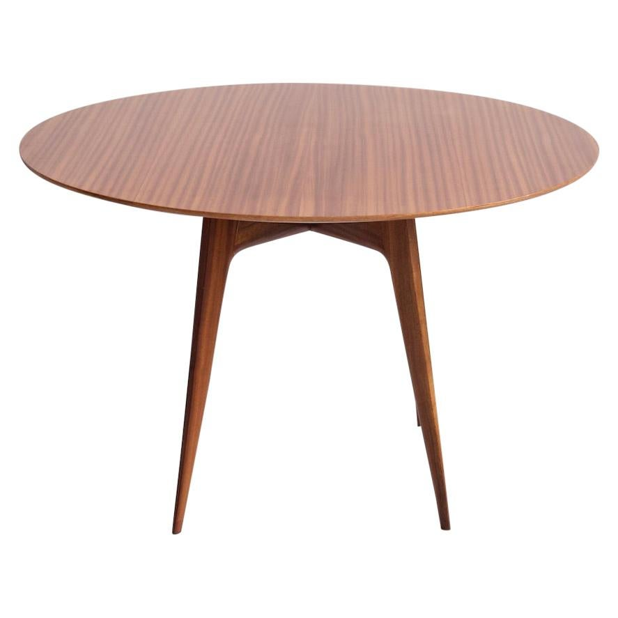 Italian Modern Round Wooden Dining Table