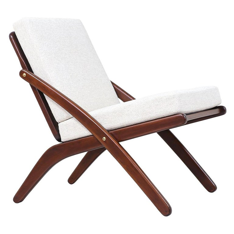 "Italian Modern ""Scissor"" Lounge Chair For Sale"