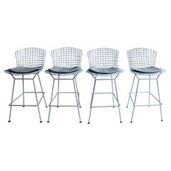 Italian Modern Sculptural Bar Stool by Harry Bertoia for Knoll