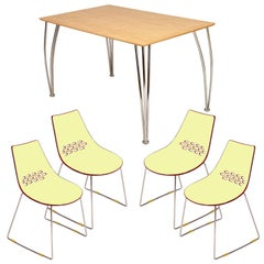 Italian Modern Set, Table Tecno Borsani Style, Chairs Connubia by Calligaris