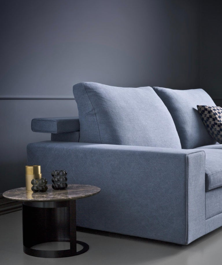 Italian Modern Sofa Bed with Flip Headrest, Made in Italy