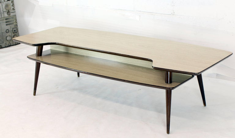 Italian Modern Step Coffee Table with Shelf For Sale 4