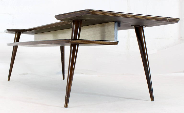 Mid-Century Modern Italian Modern Step Coffee Table with Shelf For Sale