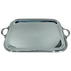 Italian Modern Sterling Silver Serving Tray by Pampaloni