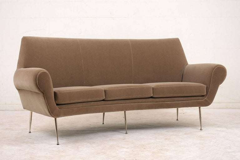Enjoyable Italian Modern Mohair Upholstery Curved Sofa Caraccident5 Cool Chair Designs And Ideas Caraccident5Info