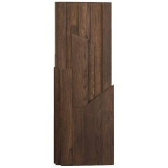 Italy Hand-Carved Oak Wood Column in Post Modern Style