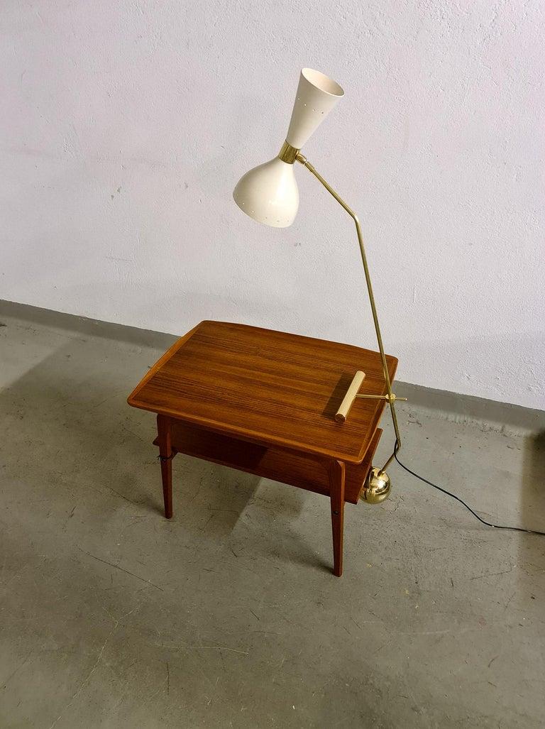 Italian Modern Table Lamp Brass and Metal, Stilnovo Style For Sale 10