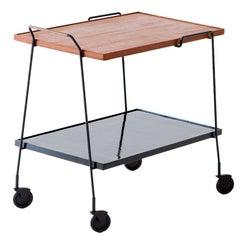 Italian Modern Teak Bar Cart, 1950s