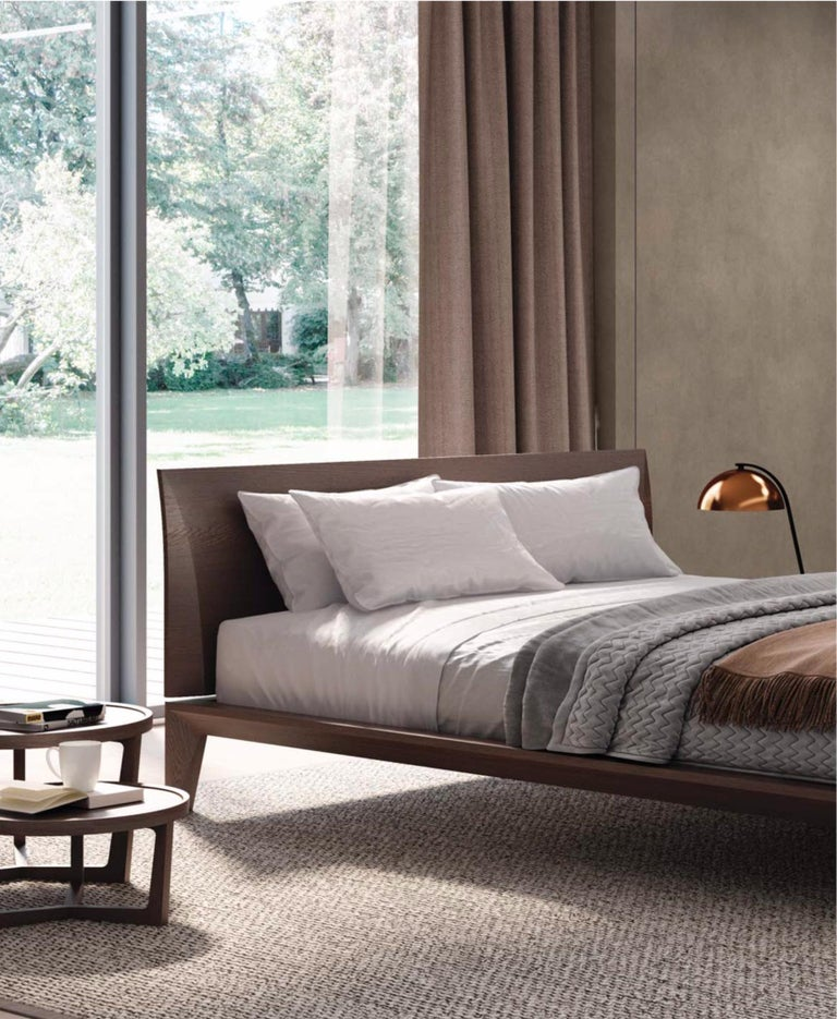 Italian Modern Wood Bed Handmade and Designed in Italy, Wood or ...