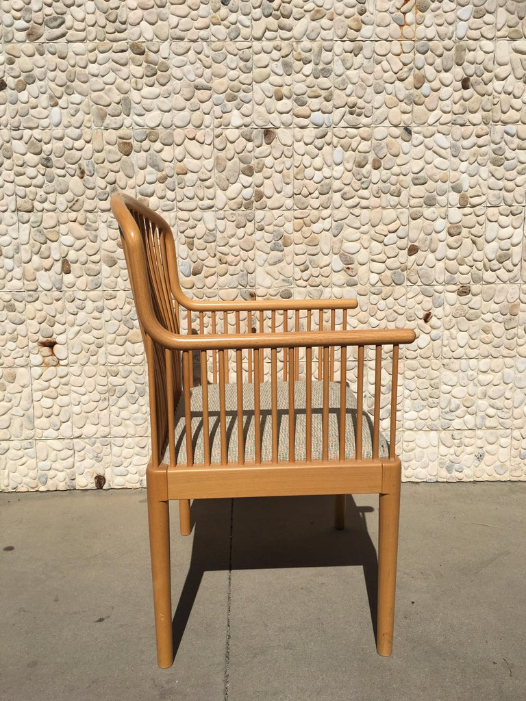 Hand-Crafted Italian Modern Wood Chair by Stendig For Sale