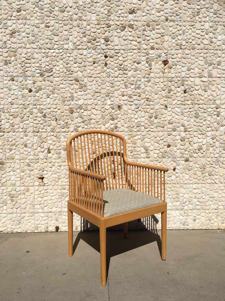 Italian Modern Wood Chair by Stendig In Good Condition For Sale In Palm Springs, CA